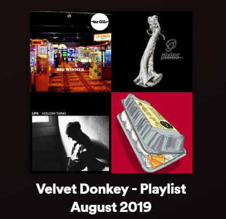 Velvet Donkey August Playlist